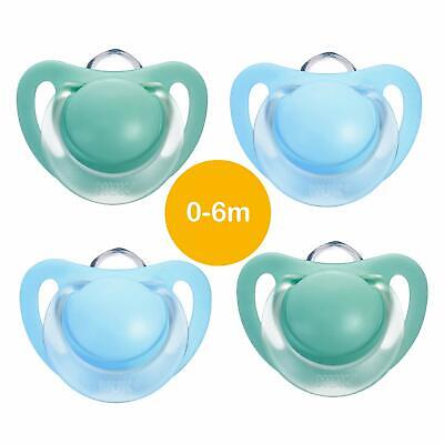 Baby Soothers Set NUK Silicone Pacifier Baby Dummy 0-6 Months Starlight 4 Pcs