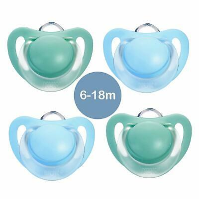 Baby Soothers Set NUK Silicone Pacifier Baby Dummy 6-18Months Starlight 4 Pcs