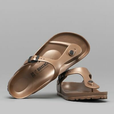 8a79f1ae63f Birkenstock GIZEH 1001506 (Reg) Ladies EVA Toe Post Sandals Metallic Copper