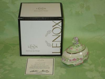 Lenox ~ 2016 Springtime Frog ~ Annual Easter Egg ~ free shipping