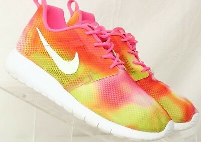 new york e00ac af969 NIKE ROSHE ONE Flight Weight GS Pink Running Shoes 705486-601 Youth Girl's  US 5Y