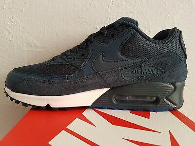 NIKE AIR MAX 1 ESSENTIAL Men's WhiteCool GreyBlue Leather Trainers UK 11EU 46