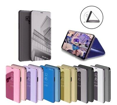 For Samsung Galaxy S10+S7,S8 S9Plus Note9 Smart View Mirror Flip Stand Case Covr