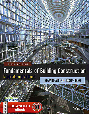 Fundamentals of Building Construction Materials and Methods 6th Ed [e-Version]