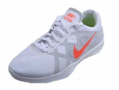 3909436a3e0a Nike Lunar Lux TR Womens White Bright Mango Pure Platinum Training Sneakers