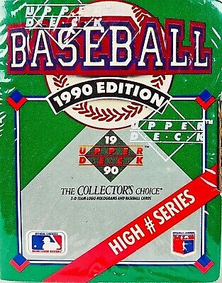 New1990 Upper Deck Baseball Cards High Number Series Box Factory Sealed 701 800