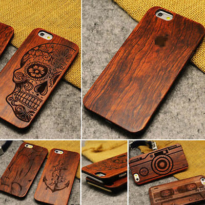 100% Natural Carved Wooden Phone Case Cover For iPhone XR XS Max 5 SE 6 7 8 X XS