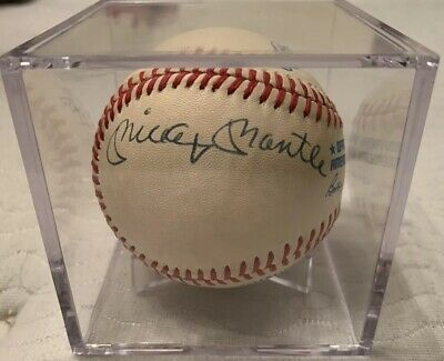 35e6952f0 Mickey Mantle Don Mattingly New York Yankees Signed Autographed Ball PSA  DNA COA