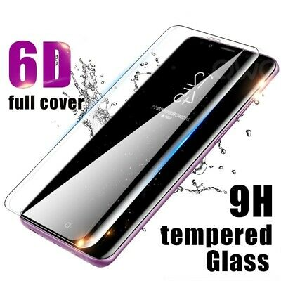 6D Curved Clear Full Tempered Glass Screen Protector for Samsung Galaxy S10 Plus