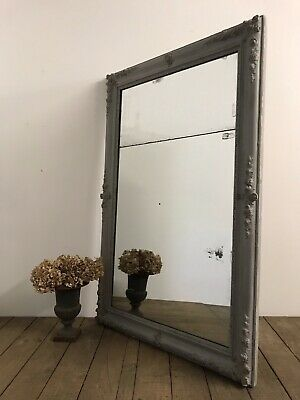 Stunning Large 19th Century Antique French Split Foxed Mirror