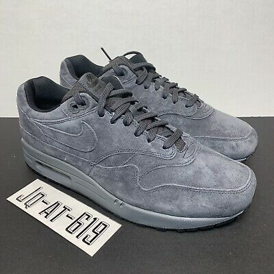 Details about Nike Air Max 1 Premium CHOOSE SIZE 875844 010 Dark Grey Anthracite Suede Retro