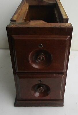 Set Of Two Antique Walnut Treadle Sewing Machine Drawers + Rack Case