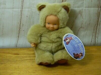 Art Dolls-ooak Anne Geddes Baby Brown Bear Pretty And Colorful Dolls & Bears