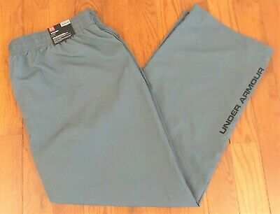 Men/'s Under Armour Heat Gear Loose Fit Straight Leg Lined Windbreaker Pants*