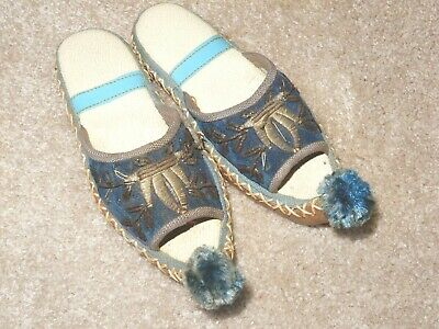 Vintage Handcrafted Embroidered  Arabian Curl Toe Child Slippers Aladdin