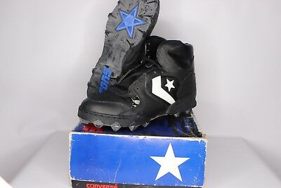 046614964c9 Vtg 90s New Converse Mens Size 8.5 Raider St Hi Lea Mesh Football Cleats  Black