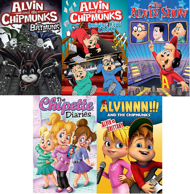 ALVIN AND THE CHIPMUNKS 5 DVD LOT simon & theodore dave cartoons crazy kids NEW