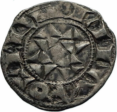 1086AD FRANCE Aquitaine Medieval French DUKE William IX and X Silver Coin i74577