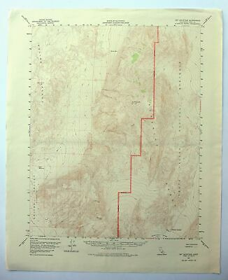 Dry Mountain California USGS Topo Map 1957 Death Valley National Park 15-minute