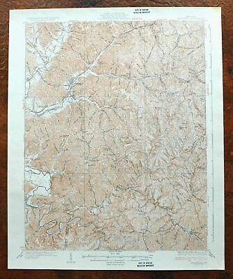 1935 Morehead Kentucky Vintage USGS Topographic Map Lakeview Heights Topo