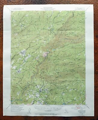 Columbia California Vintage USGS Topo Map 1948 Forest Meadows Crystal Falls