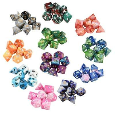 7pcs/Set Game Dungeons & Dragons Polyhedral 2-2.5cm Multi Sided Acrylic Super