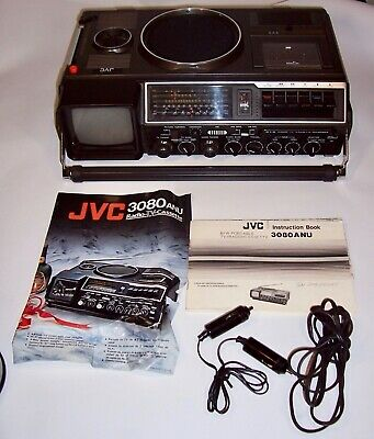 JVC 3080-ANU B/W Portable TV /Radio/Cassette Stereo Radio Combination