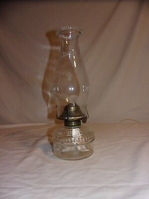 Vintage Oil Lamp for Wall Bracket w/ Ornate P&A Burner & Bead Top Chimney (OPA)