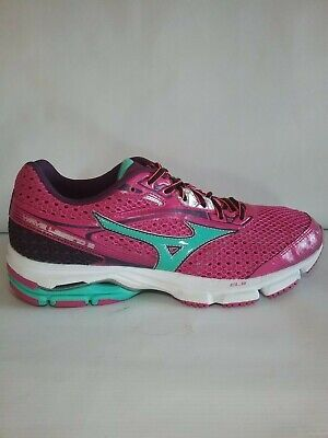 the latest 17a75 345d6 Mizuno Wave Legend 3 Womens Athletic Running Shoes Dark Pink Teal size 11