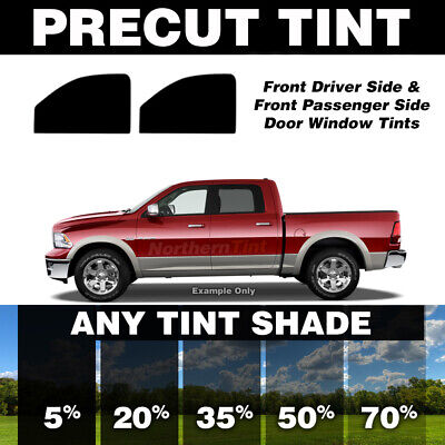 Precut Window Tint for Nissan Frontier Crew Cab 00-04 (Front Doors Any Shade)