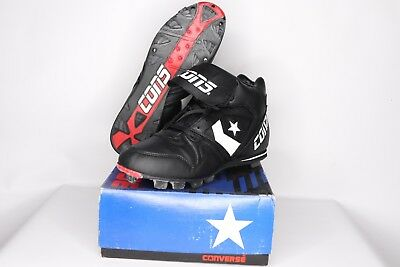 9ff6374569a Vintage 90s New Converse Mens Size 11 Round Tripper Mr Mid Baseball Cleats  Black