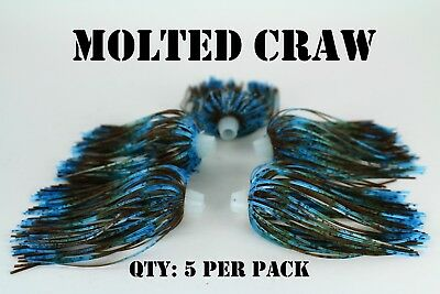 5 per pack Qty Chatterbait fishing lure skirt PRO-TIE SKIRTS Bass,spinnerbait