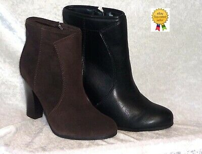 349f47cb2a37 Liz Claiborne Womens Ankle Boots Heels Lucky Solid Zipper size 9.5 10 NEW