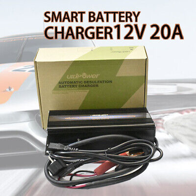 12V Smart Car Battery Lead Acid Charger 20A Automatic Reverse Pulse Charger