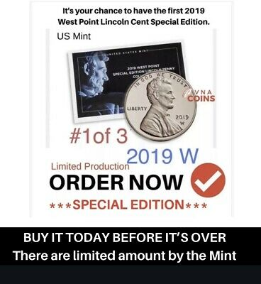 2019 W PROOF PENNY - First of 3 WITH Mint Issued Envelope