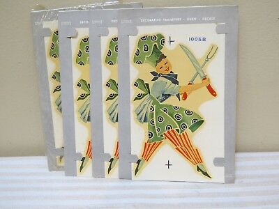 Vintage 1940s New Old Stock Duro Decals, 6 Sheets, Chef Design
