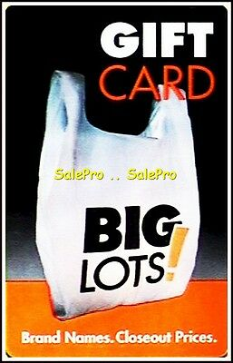 Brand Names 2013 Big Lots Brand Names Closeout Prices Rare Collectible Gift Card
