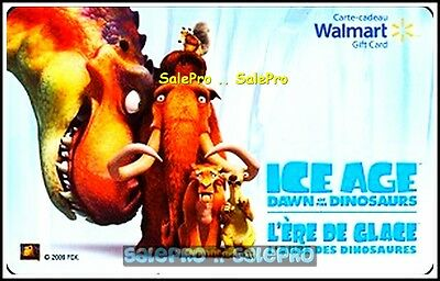 Walmart Ice Age Movie Dawn Of The Dinosaurs Dino #vl10016 Collectible Gift Card