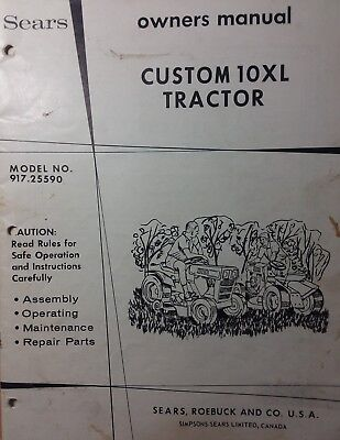 sears custom 10xl lawn garden tractor owner & parts manual 917 25590 on  1964 sears suburban garden