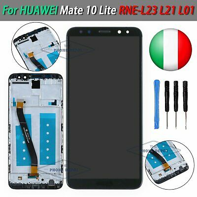 PER Huawei Mate 10 Lite NERO RNE-L21 L01 VETRO DISPLAY LCD TOUCH SCREEN +FRAME
