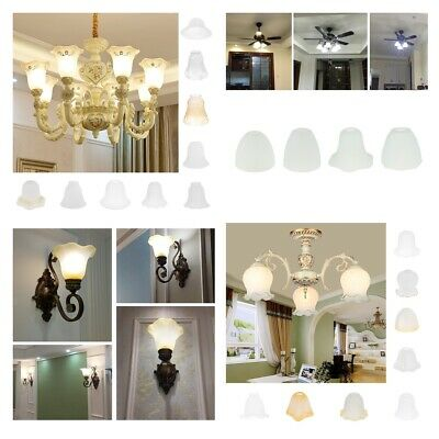 Assorted Replacement Ceiling Fan Vanity Chandelier Frosted And Clear Glass Shade