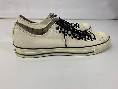 14dc1dd90cf5 RARE Converse John Varvatos Vintage Multi Eyelet Laced Canvas 13 Men s Cream