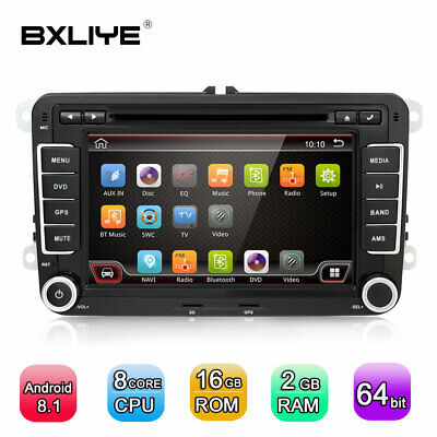 "8""Android 8.1 Für Volkswagen Autoradio DVD SD GPS Navigation Bluetooth WIFI IPS"