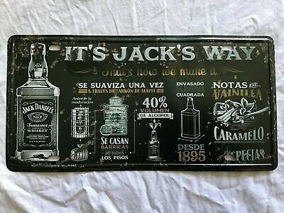 Jack Daniels Number Plate ~ New ~ Damaged ~ Man Cave ~ Sign