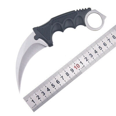 CSGO Karambit Knife Fixed Blade Sharp Outdoor Hunting Fishing Saber With Sheath