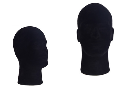 Black Foam Male Head Mannequin Wig Hat Glasses Display Stand Tools Model New