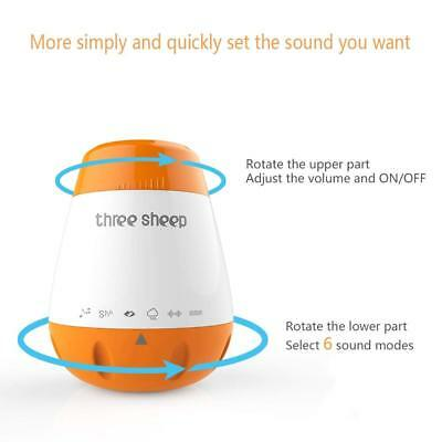 Portátil USB Baby Sleep Calmante Sound Machine - Suave 6 Sonidos Temporizador