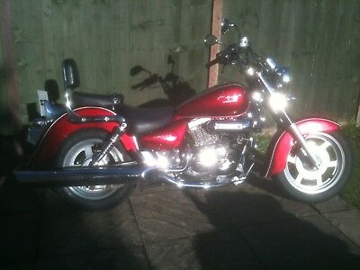 2009 Hyosung GV 125 Aquila,Full MOT,serviced,Many recent parts,can deliver.