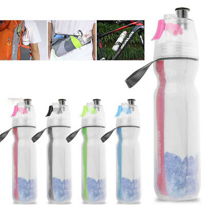 2018 Deporte Botella 500 Ml Mist Protablewater Ciclismo Spray Doble para