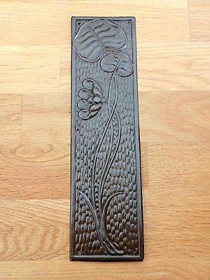 Antique Brass  Finish Arts & Crafts Finger Door Push Plates Fingerplate Handles